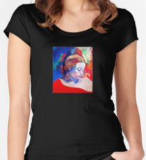 emily and her red shawl Women's Fitted Scoop T-Shirt