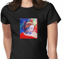 emily and her red shawl Womens Fitted T-Shirt