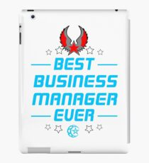 business manager - solve and travel design iPad Case/Skin