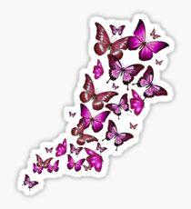 Purple Butterfies Sticker