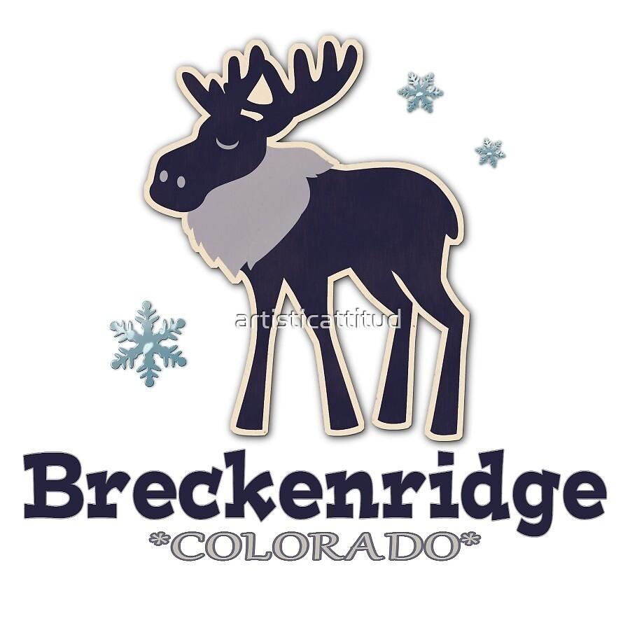 Simple blue Breckenridge Colorado moose by artisticattitud