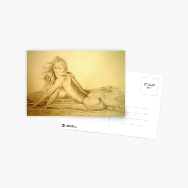 Brunette at Hot Springs Postcard