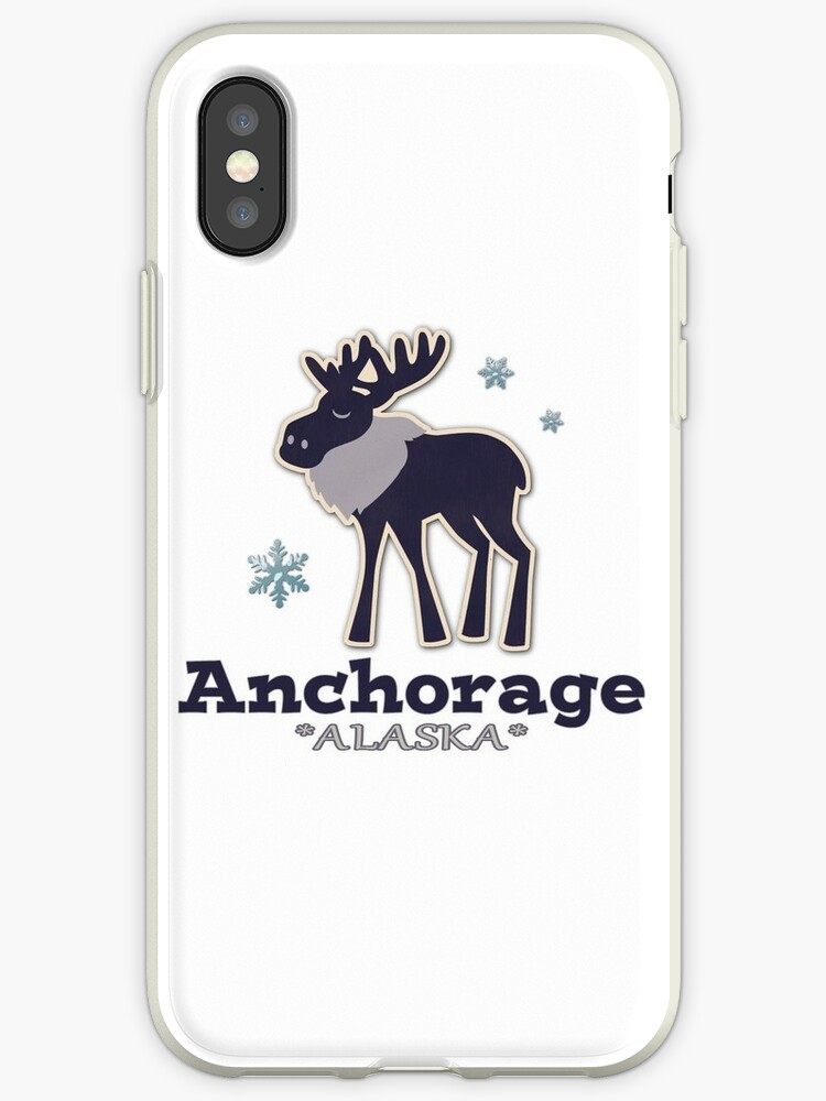 Anchorage Alaska simple blue moose by artisticattitud