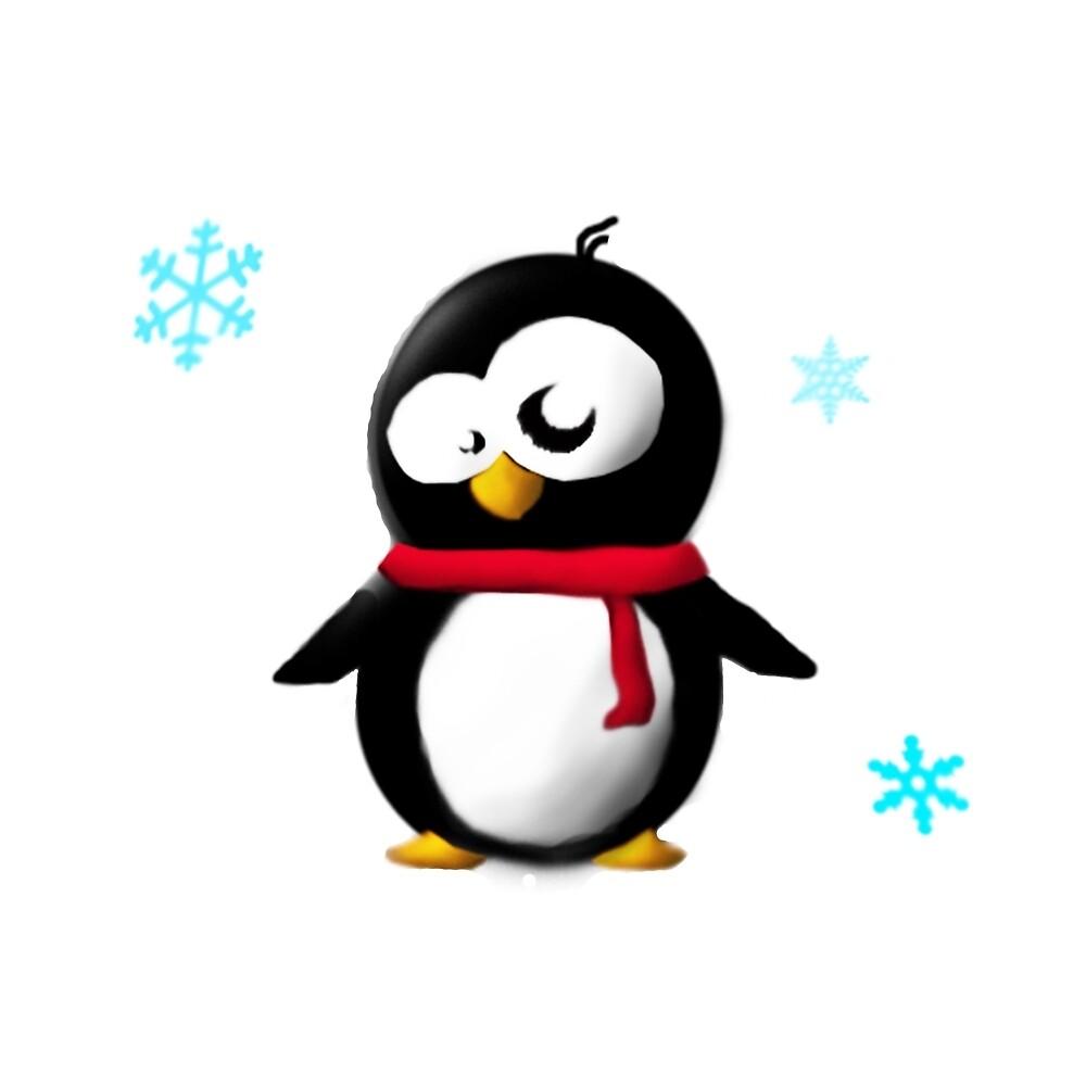 Holiday penguin by Sandra Roosna