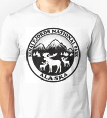 Kenai Fjords National Park Alaska moose design Unisex T-Shirt