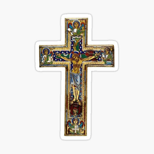 Medieval Cross Sticker