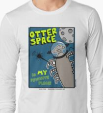Octo Otter Space Comic Robot Super Hero Design T-Shirt