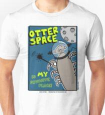 Octo Otter Space Comic Robot Super Hero Design Unisex T-Shirt