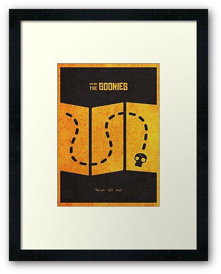 """The Goonies Minimalist Alternative Movie Poster"" Framed"