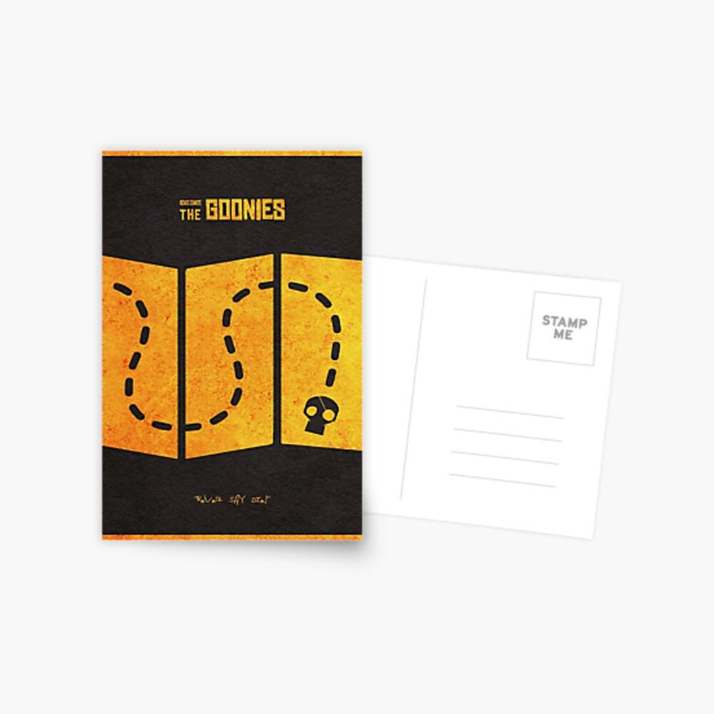 Das minimalistische alternative Filmplakat Goonies Postkarte