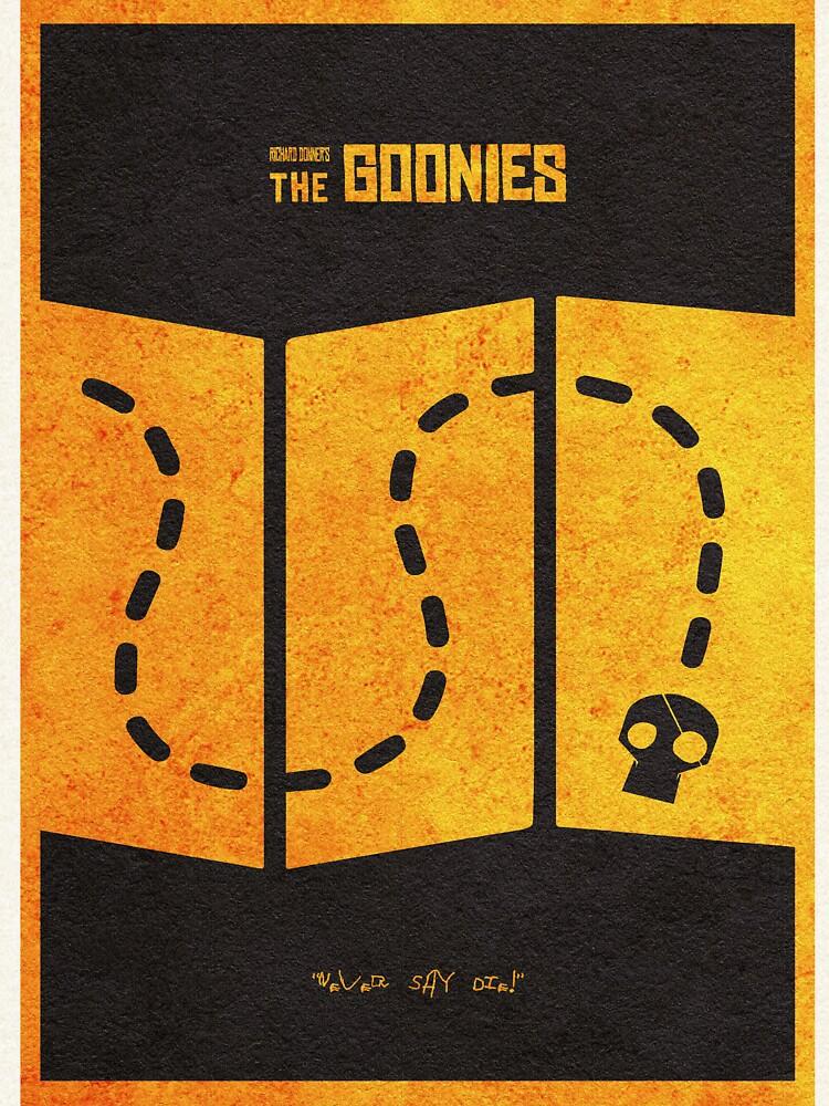 Das minimalistische alternative Filmplakat Goonies von geekmywall