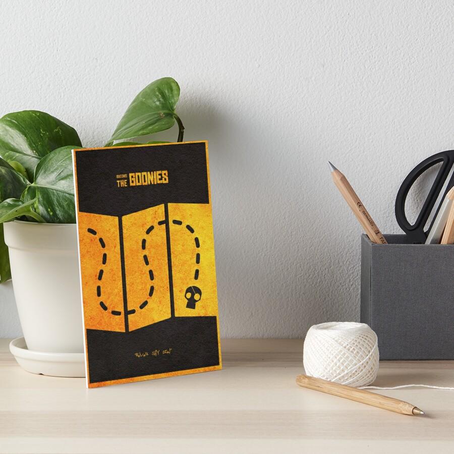 Das minimalistische alternative Filmplakat Goonies Galeriedruck
