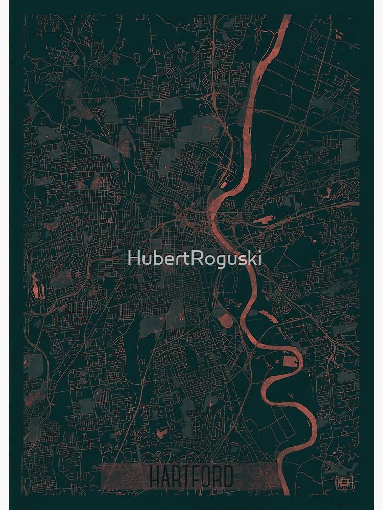Hartford Map Red by HubertRoguski