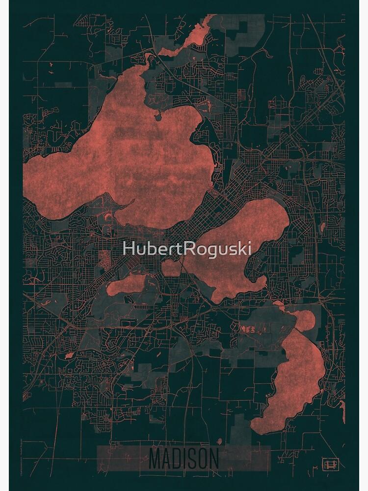 Madison Map Red by HubertRoguski