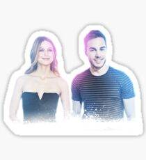 Melissa Benoist and Chris Wood Neon Sticker (& other products) Sticker