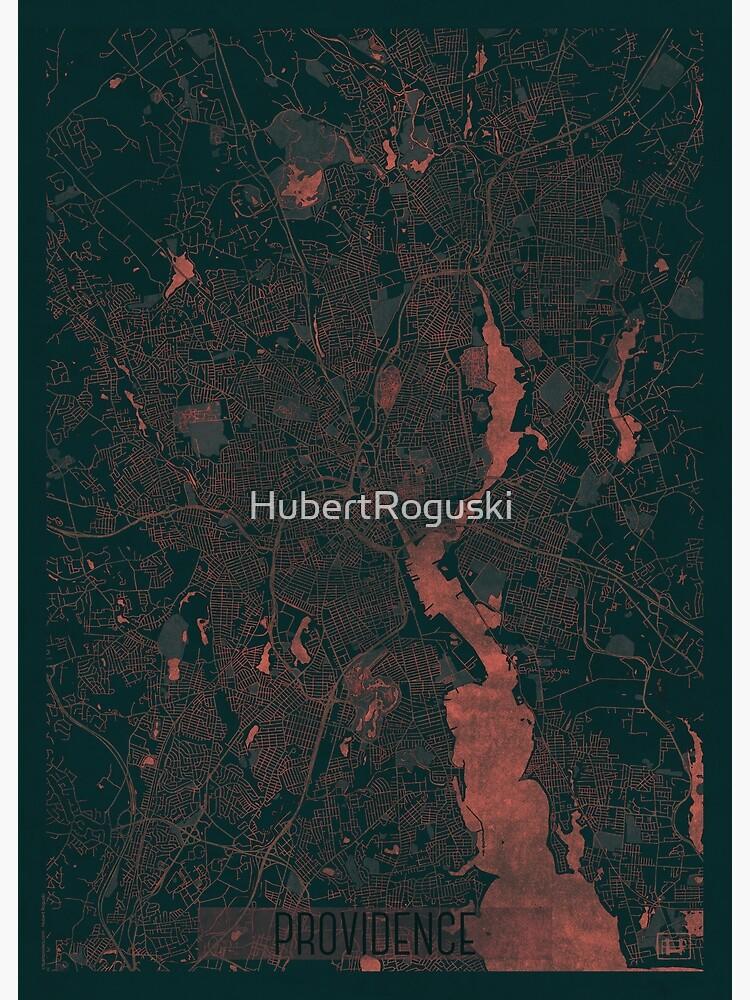Providence Map Red by HubertRoguski