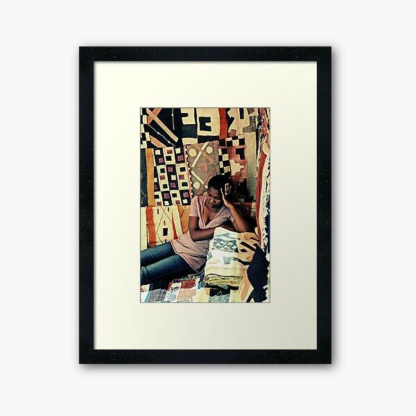 hot and tired Framed Art Print