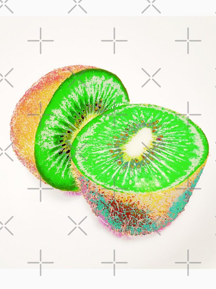 Kiwilicious - Neon Green Kiwi Fruit Photo Art by OneDayArt
