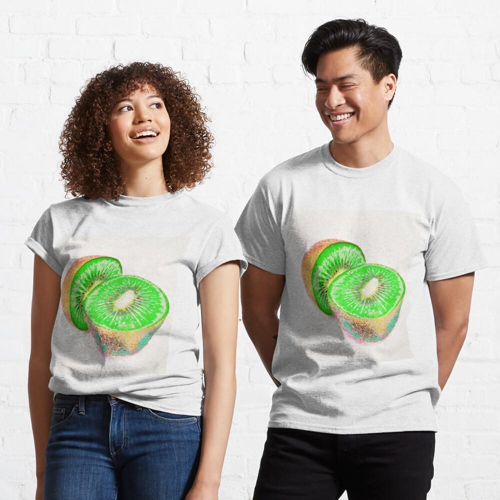 Kiwilicious - Neon Green Kiwi Fruit Photo Art Classic T-Shirt