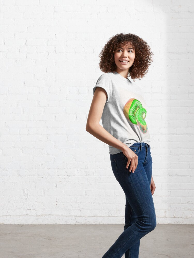 Alternate view of Kiwilicious - Neon Green Kiwi Fruit Photo Art Classic T-Shirt