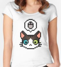 Pixel cat Women's Fitted Scoop T-Shirt