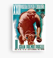 VUELTA CICLISTA: Vintage Cataluna Bike Racing Print Canvas Print