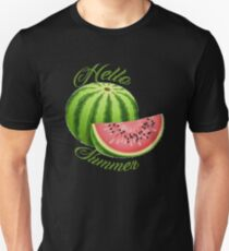 Hello summer water melon Unisex T-Shirt