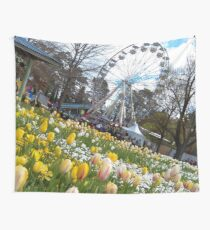 Tulips and Big Wheel, Canberra Wall Tapestry