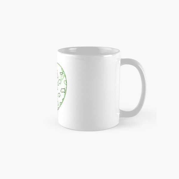 Stylised Green & White Heart Classic Mug