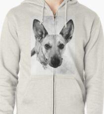 Carolina Gray Pup Zipped Hoodie