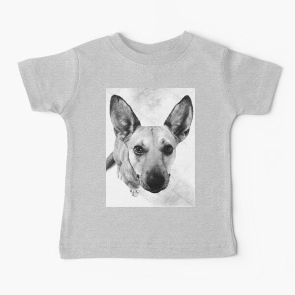 Carolina Dog Gray Pup - American Dingo Baby T-Shirt