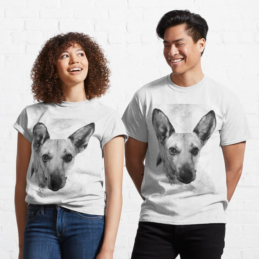 Carolina Dog Gray Pup - American Dingo Classic T-Shirt