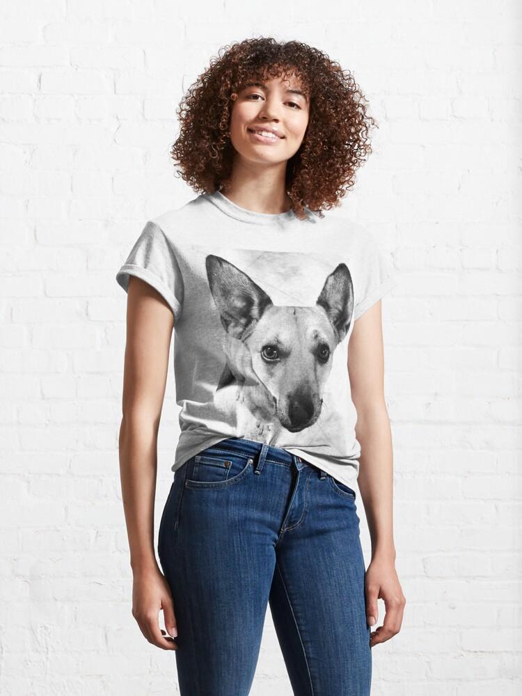 Alternate view of Carolina Dog Gray Pup - American Dingo Classic T-Shirt