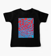 Red and Turquoise Maze Baby Tee