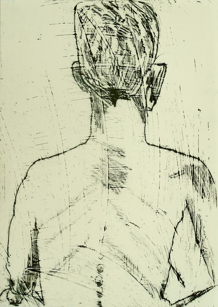 fara monprint - back view by donna malone