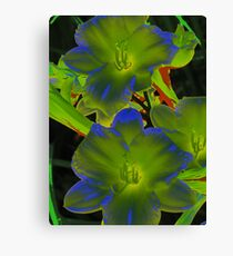 psychedelic lily Canvas Print