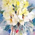Flowers - Yellow Wild Roses Painting - Art Prints Cards Clothes & Gifts by Ballet Dance-Artist