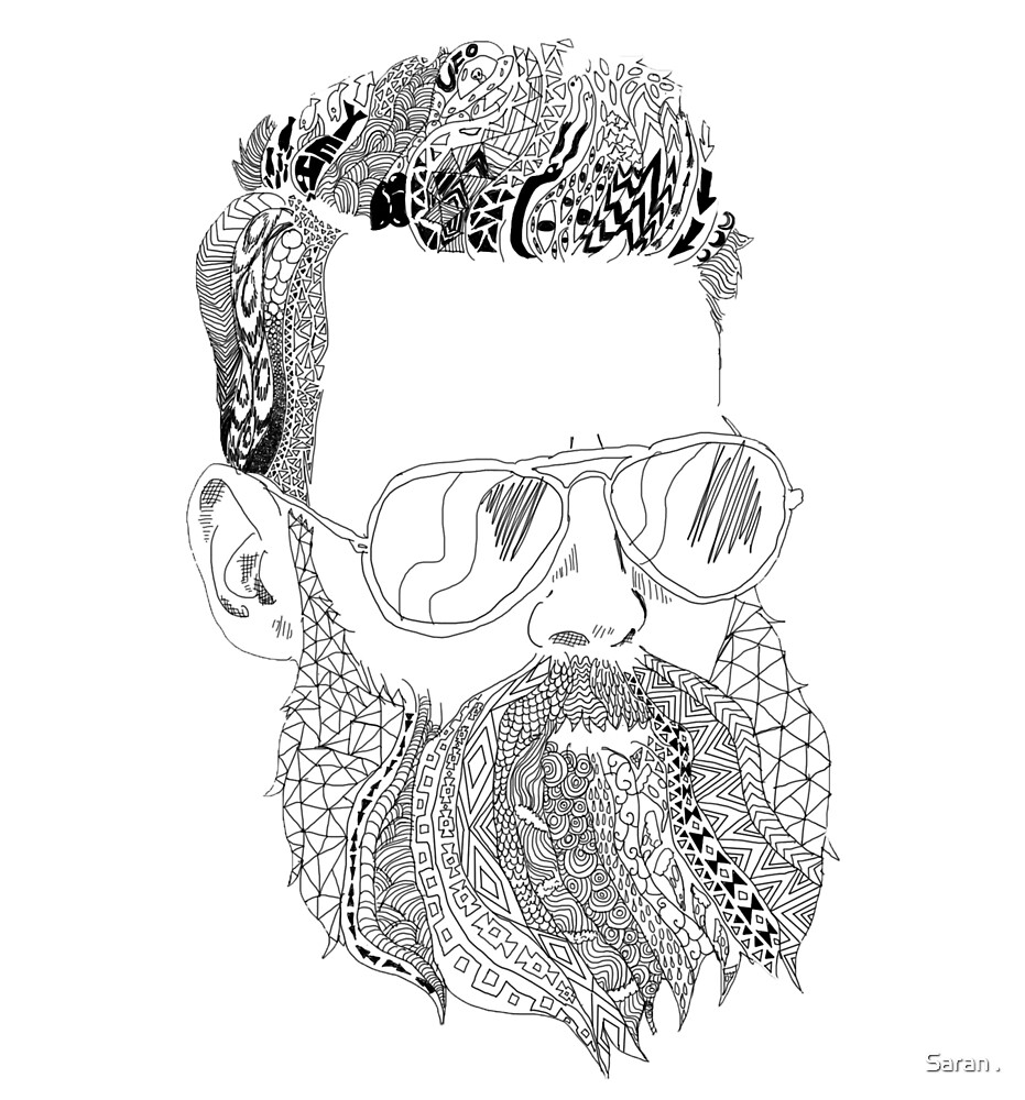 Bearded Hipster by Saran .