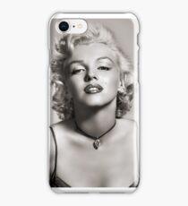 Marilyn Monroe black and white photo iPhone Case/Skin