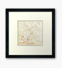 Tianjin Map Gold Framed Print