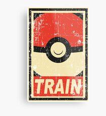 Pokemon train Metal Print