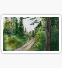 Watercolor Forest Painting Sticker