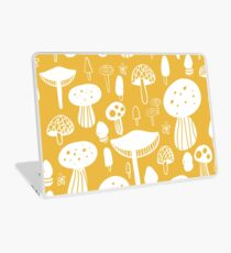 Vinilo para portátil Forest Mushrooms Yellow print