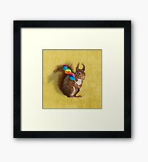 Squirrel with lollipop Framed Print