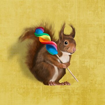 Squirrel with lollipop by Sparafuori