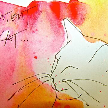 Content Cat by dkatiepowellart