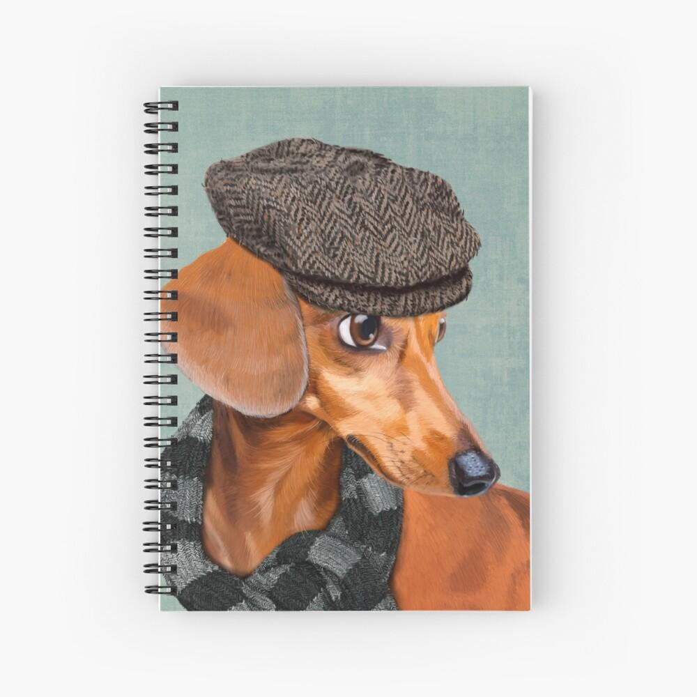 Elegante Sr. Dachshund Cuaderno de espiral
