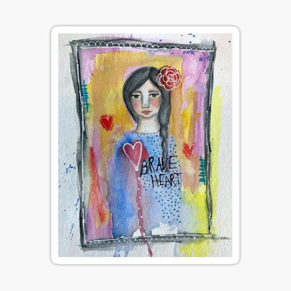 """""""Brave Heart"""" Sticker"""