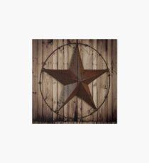 primitive western country barn wood grunge texas star  Art Board