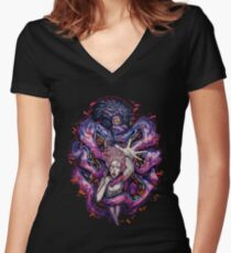 Octopus Monster Women's Fitted V-Neck T-Shirt